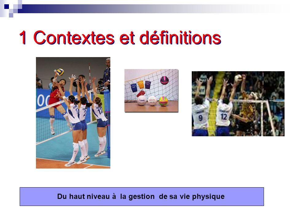1 Contextes et définitions Du haut niveau à la gestion de sa vie physique