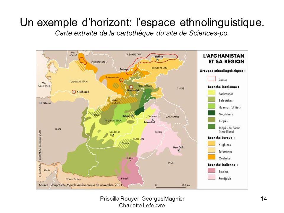 Priscilla Rouyer Georges Magnier Charlotte Lefebvre 14 Un exemple dhorizont: lespace ethnolinguistique. Carte extraite de la cartothèque du site de Sc