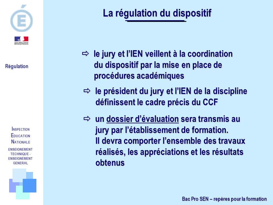 I NSPECTION E DUCATION N ATIONALE ENSEIGNEMENT TECHNIQUE - ENSEIGNEMENT GENERAL Régulation le jury et lIEN veillent à la coordination du dispositif pa