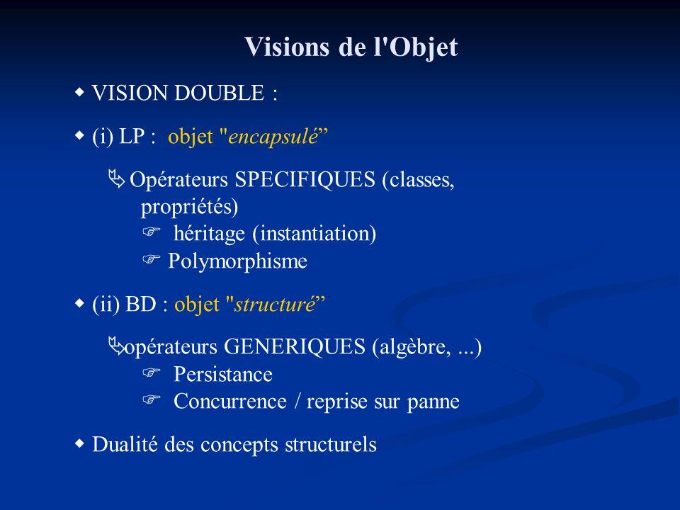 Visions de l'Objet VISION DOUBLE : (i) LP : objet