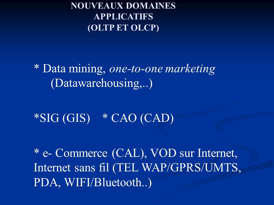 PROFIL MODELE DE DONNEES et SGBD .Gestion de très grandes BD : vers les BD de l ordre du...