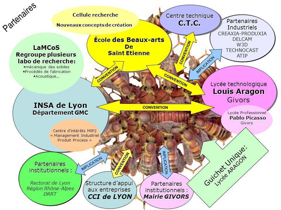 INSA de Lyon Département GMC INSA de Lyon Département GMC Partenaires institutionnels : institutionnels : Rectorat de Lyon Région Rhône-Alpes DRRT IMP