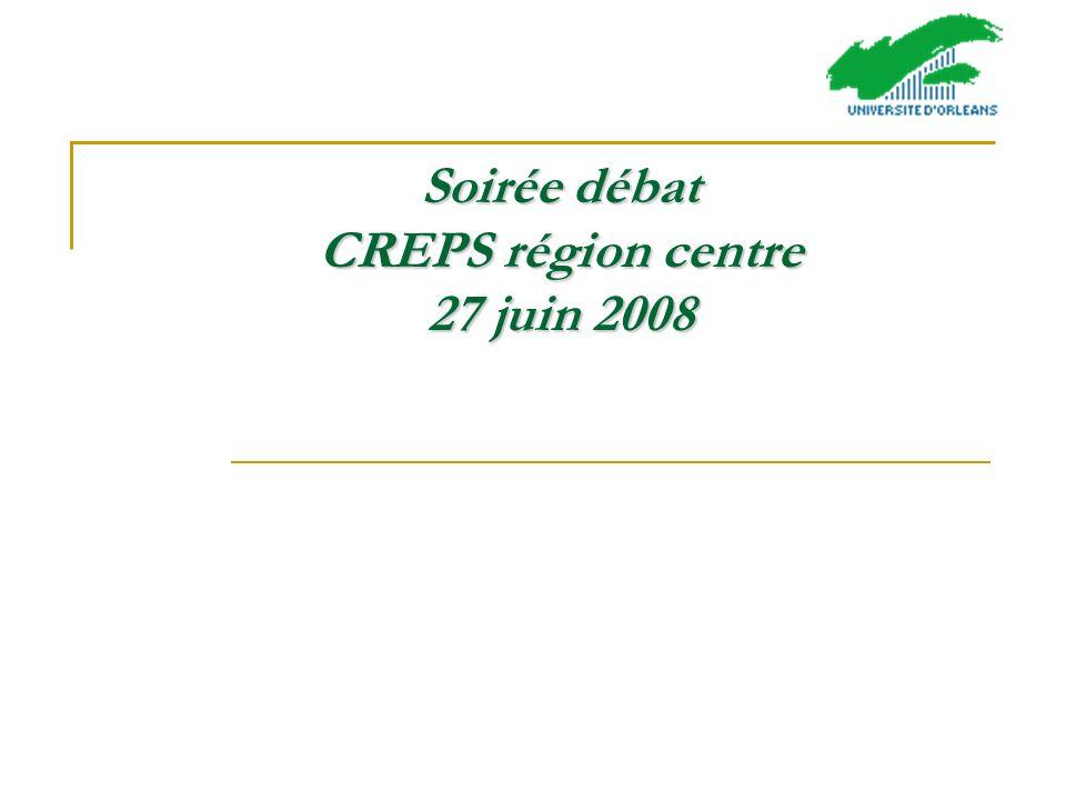 Soirée débat CREPS région centre 27 juin 2008