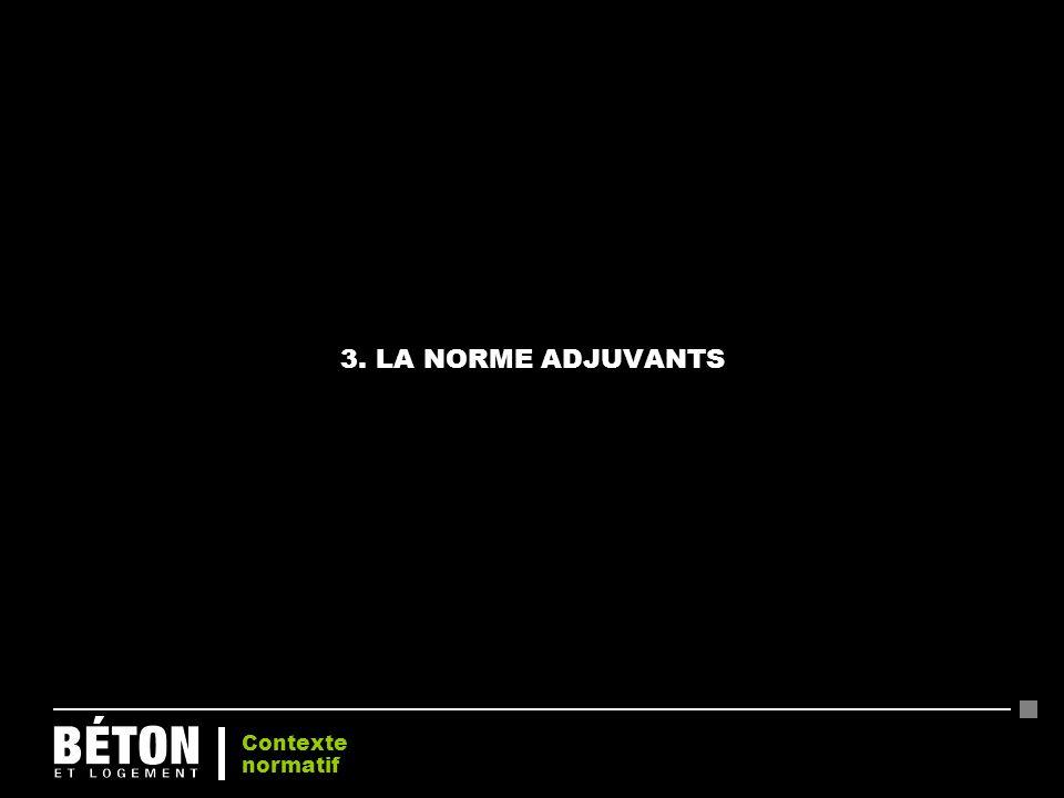 3. LA NORME ADJUVANTS Contexte normatif