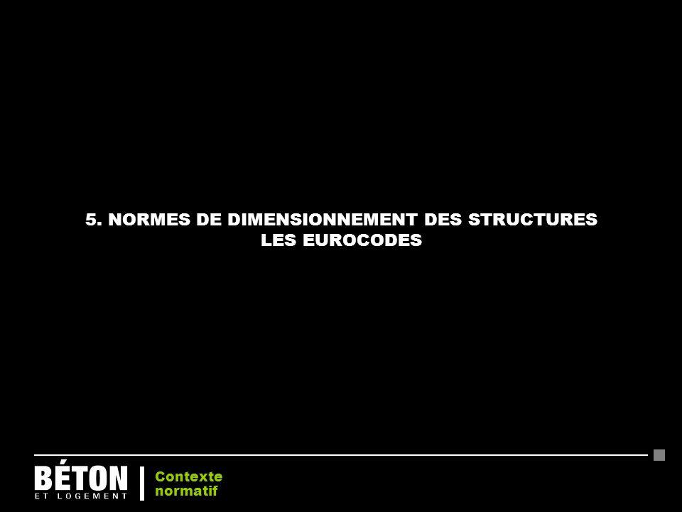 5. NORMES DE DIMENSIONNEMENT DES STRUCTURES LES EUROCODES Contexte normatif