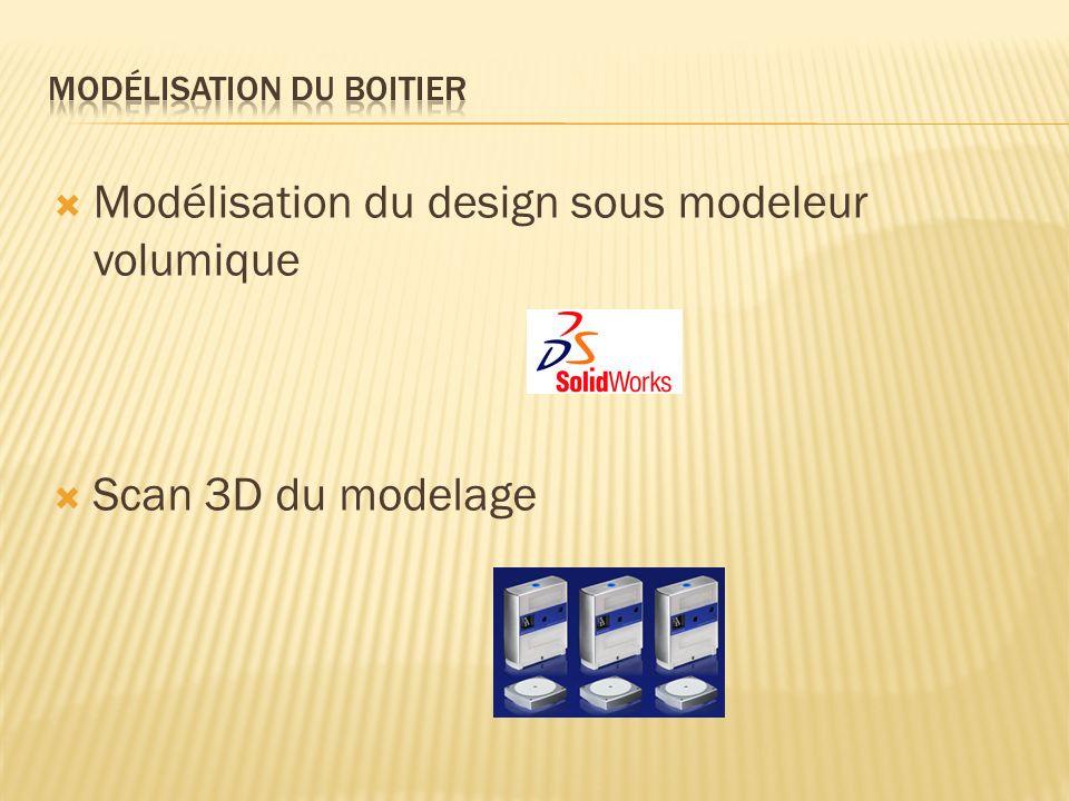 Modélisation du design sous modeleur volumique Scan 3D du modelage