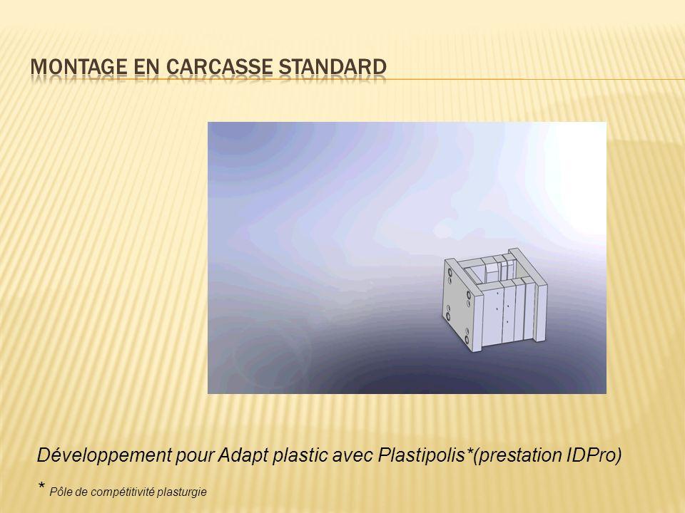 Développement pour Adapt plastic avec Plastipolis*(prestation IDPro) * Pôle de compétitivité plasturgie