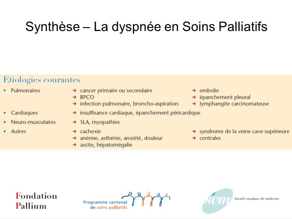 Synthèse – La dyspnée en Soins Palliatifs