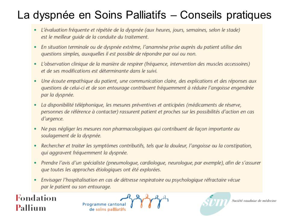 La dyspnée en Soins Palliatifs – Conseils pratiques