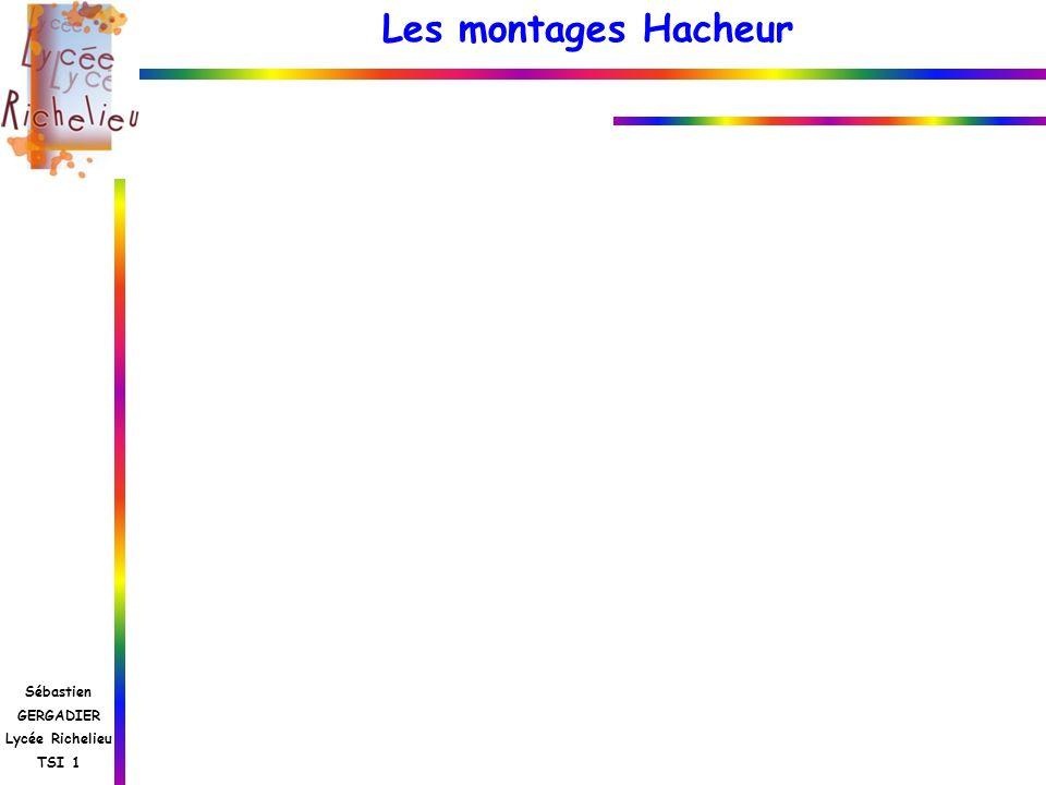 Les montages Hacheur Sébastien GERGADIER Lycée Richelieu TSI 1