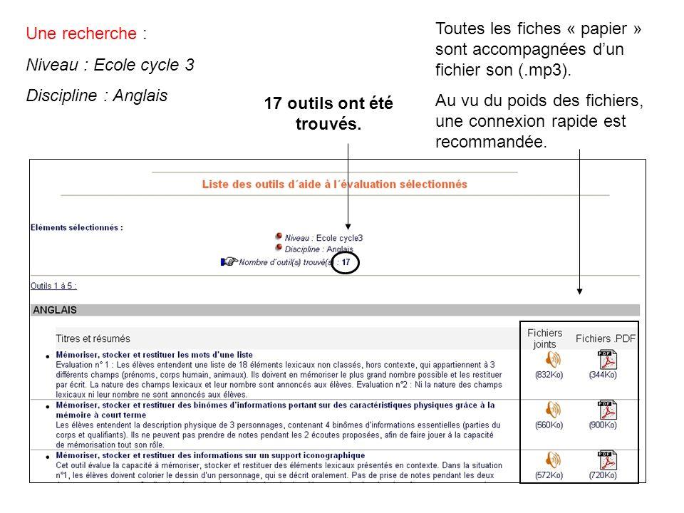 Une recherche : Niveau : Ecole cycle 3 Discipline : Anglais 17 outils ont été trouvés.