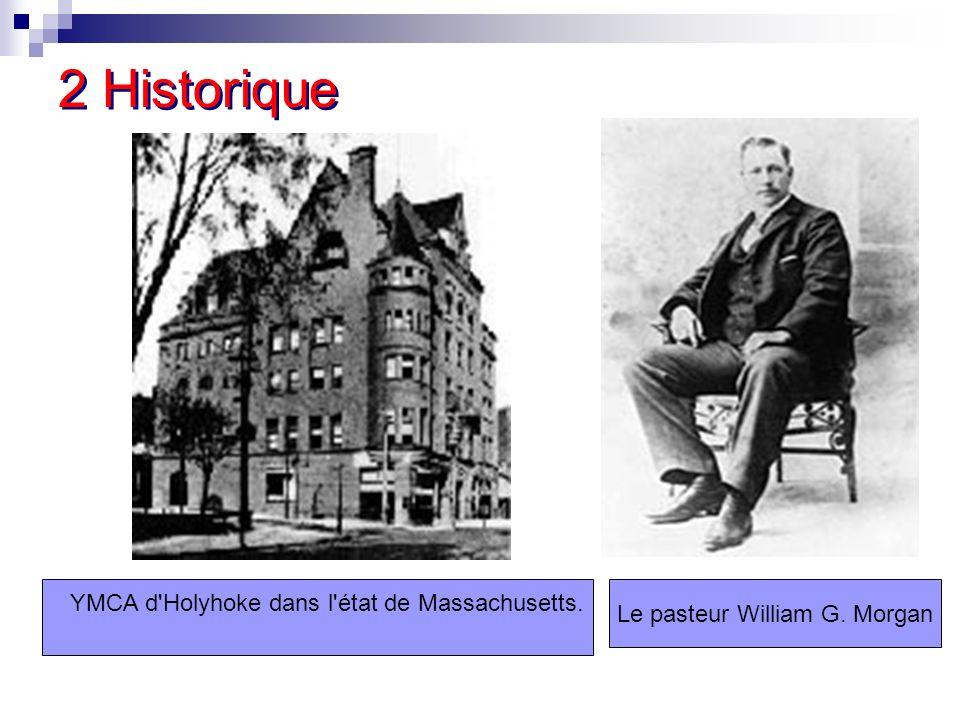 2 Historique Le pasteur William G. Morgan YMCA d'Holyhoke dans l'état de Massachusetts.