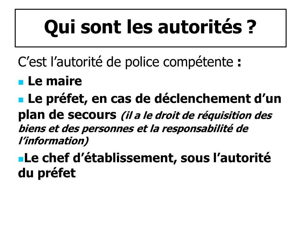 Qui sont les autorités .