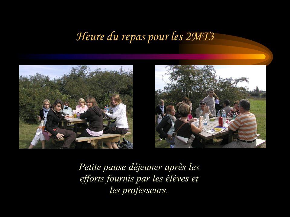 Heure du repas pour les 2MT3 Petite pause déjeuner après les efforts fournis par les élèves et les professeurs.