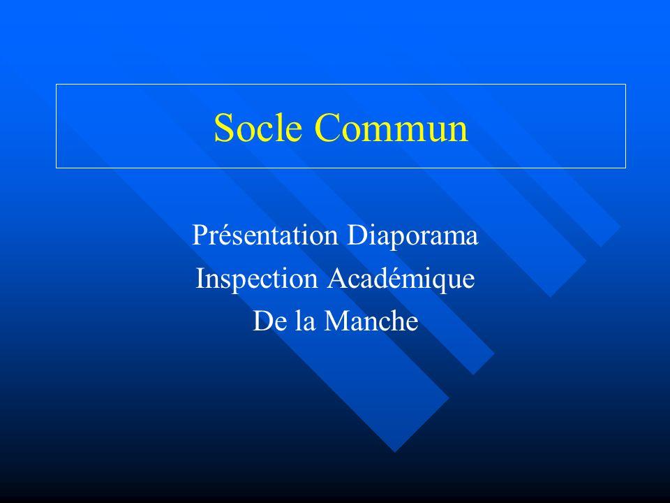 Socle Commun Présentation Diaporama Inspection Académique De la Manche