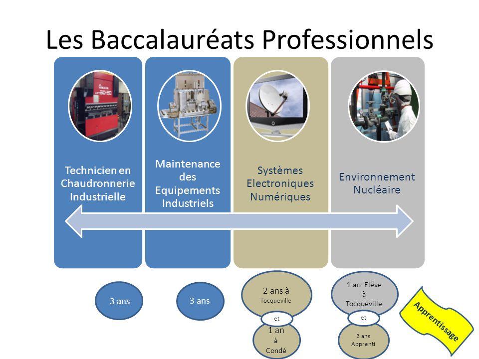 Les Baccalauréats Professionnels Technicien en Chaudronnerie Industrielle Maintenance des Equipements Industriels Systèmes Electroniques Numériques En