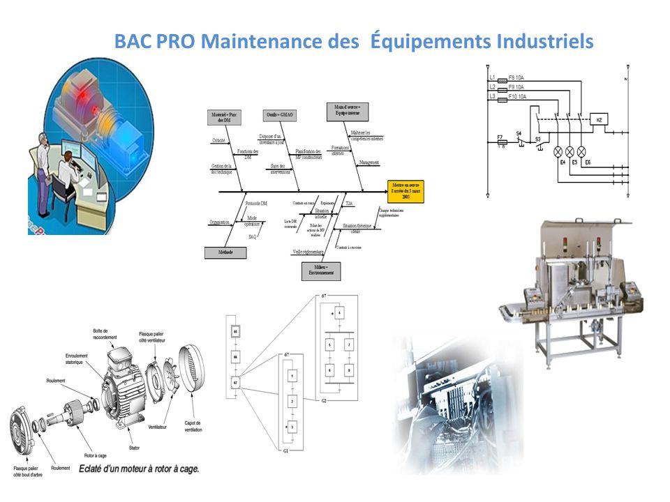 BAC PRO Maintenance des Équipements Industriels