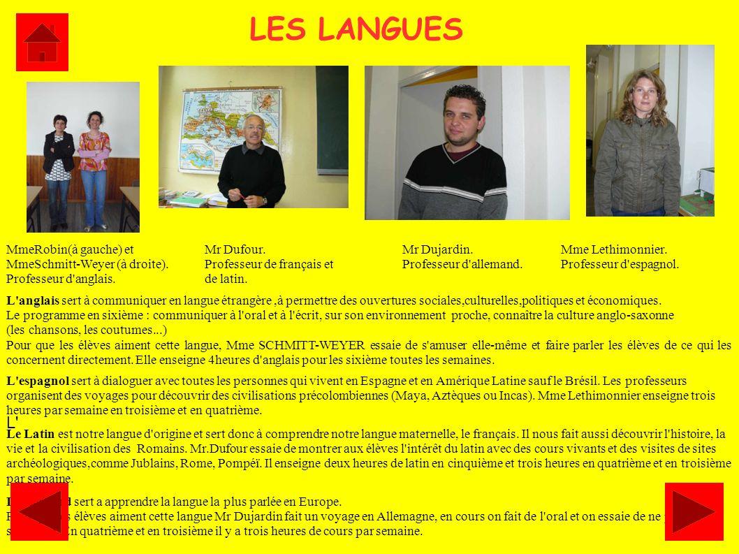 LES LANGUES L'anglais sert à communiquer en langue étrangère,à permettre des ouvertures sociales,culturelles,politiques et économiques. Le programme e