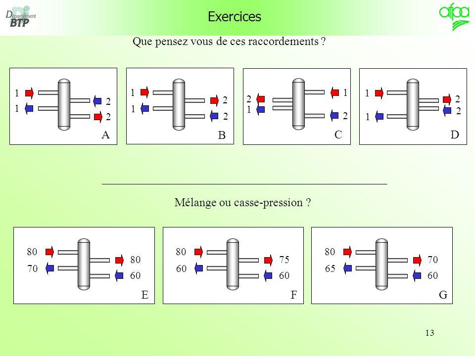 13 Exercices Que pensez vous de ces raccordements .