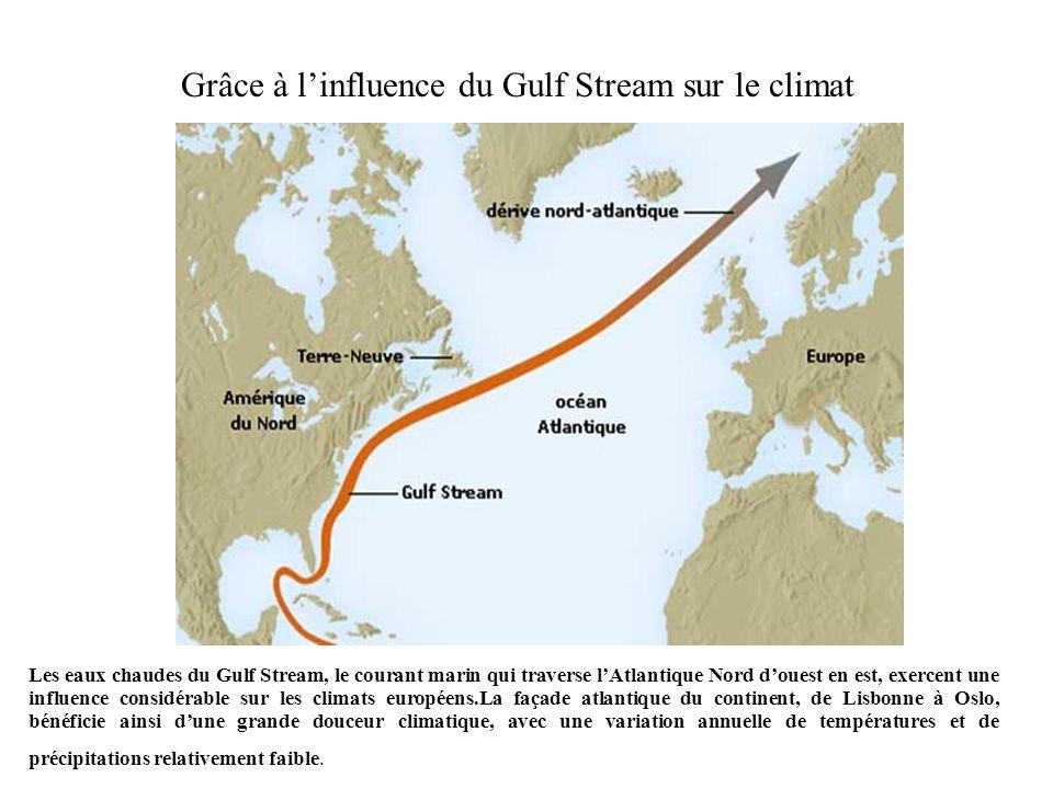 Norvège, Danemark et Normandie donnent sur la façade Ouest de l Europe : la carte suivante montre quils bénéficient de la même nuance océanique du climat tempéré ;