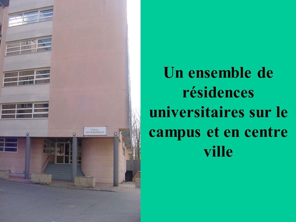 Un ensemble de résidences universitaires sur le campus et en centre ville