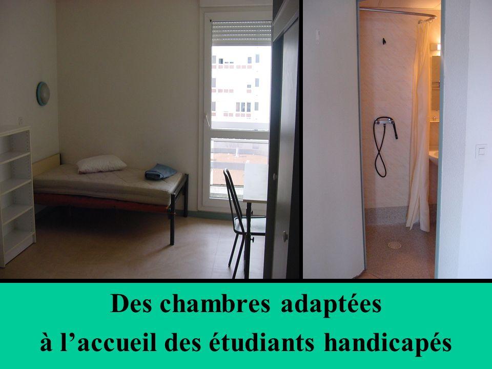 Des chambres adaptées à laccueil des étudiants handicapés