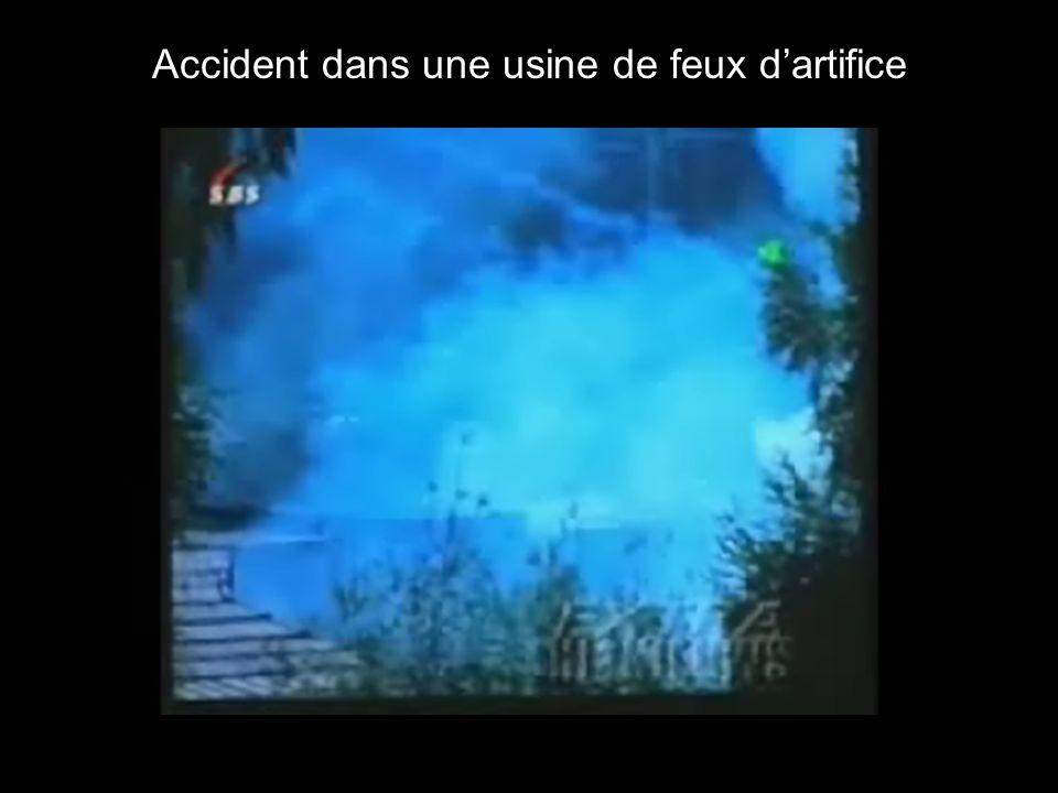 Accident dans une usine de feux dartifice