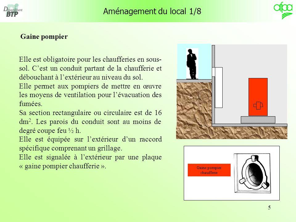 56 Équipement réglementaire des générateurs 2/2 Référence : Ministère de lintérieur, règlement de sécurité contre lincendie.