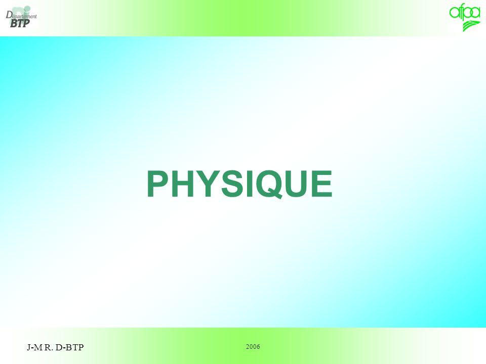 1 PHYSIQUE J-M R. D-BTP 2006