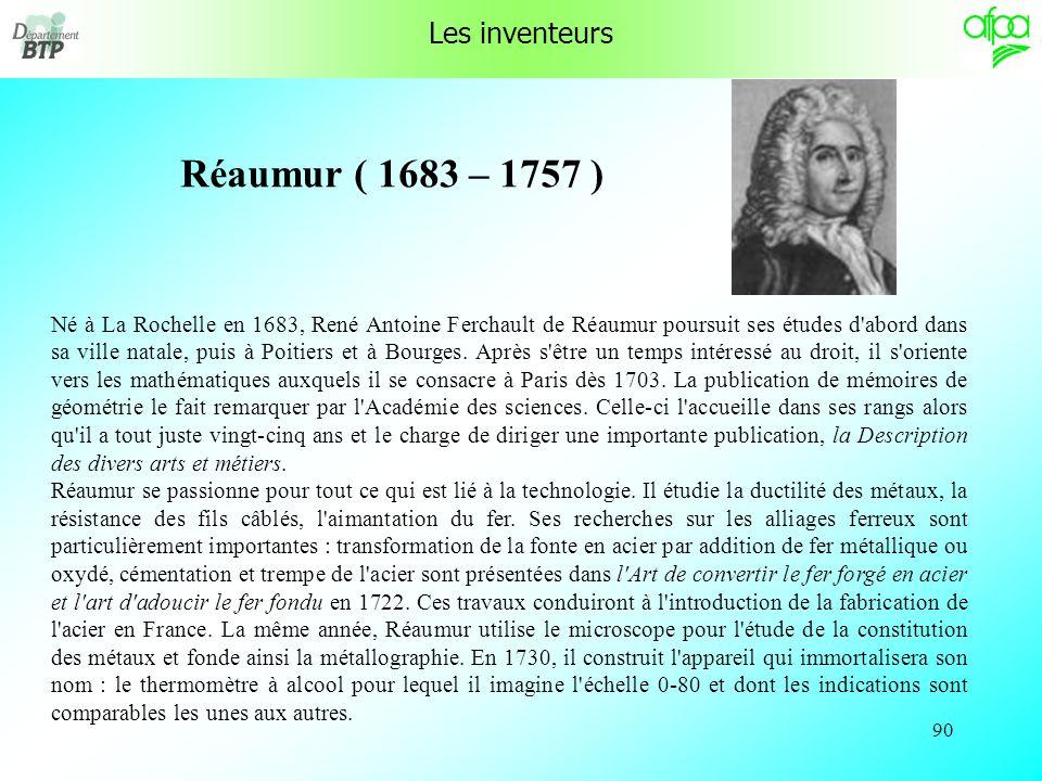 89 Histoire des thermomètres 2/2 En 1794, la Convention a décidé que le degré thermométrique serait la centième partie de la distance entre le terme de la glace et celui de l eau bouillante .