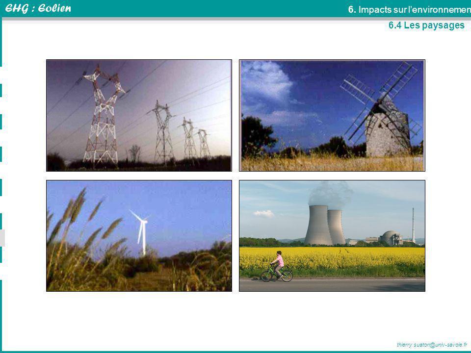 thierry.suaton@univ-savoie.fr 6.4 Les paysages 6. Impacts sur lenvironnement