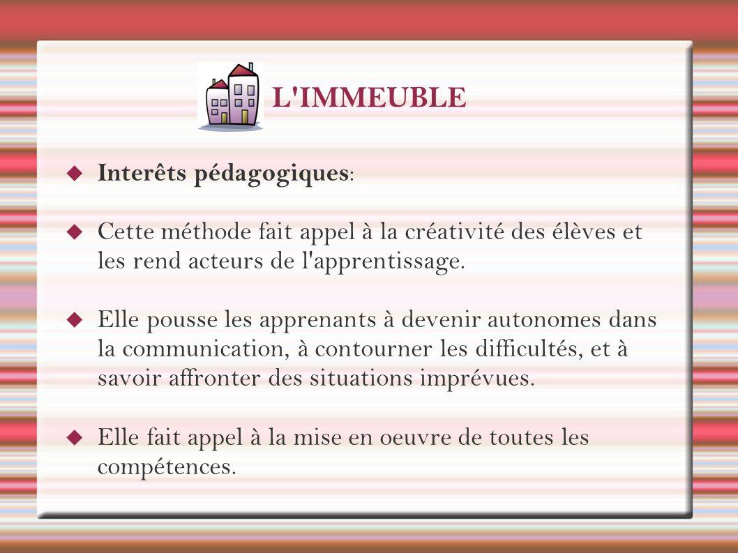 L IMMEUBLE C est un roman de la vie quotidienne, où la langue est un outil pour la communication.