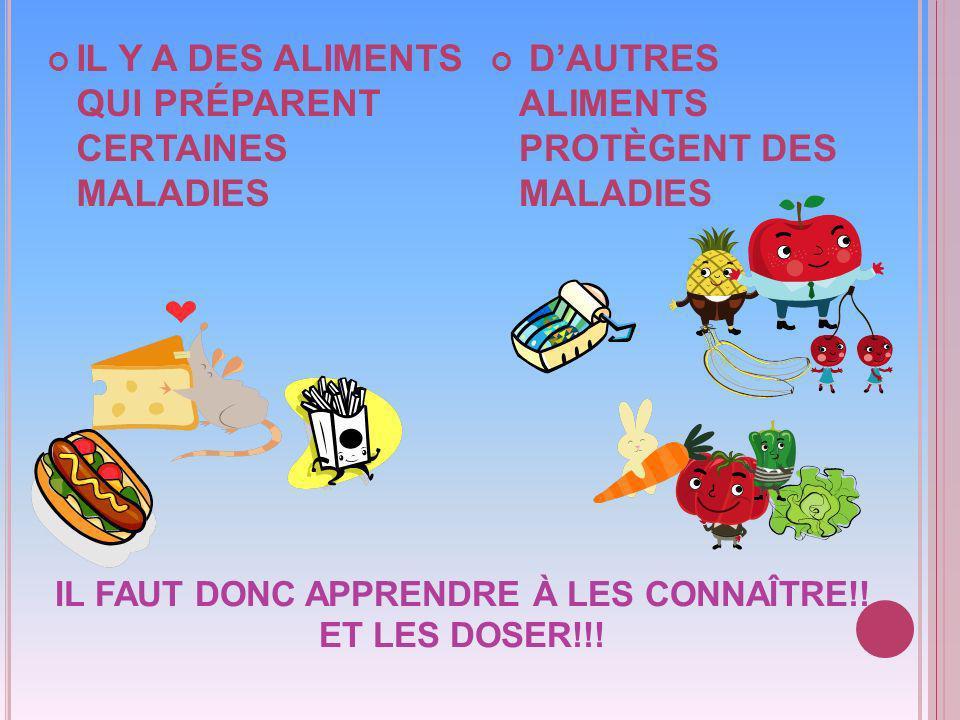 IL FAUT DONC APPRENDRE À LES CONNAÎTRE!.ET LES DOSER!!.