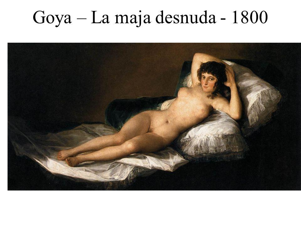 Goya – La maja desnuda - 1800