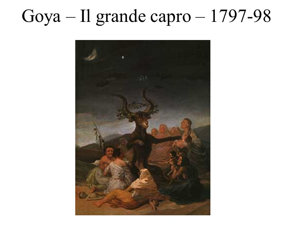 Goya – Il grande capro – 1797-98