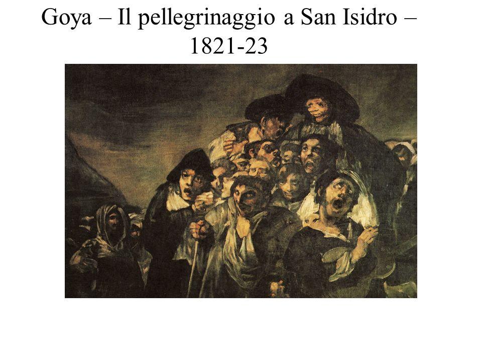 Goya – Il pellegrinaggio a San Isidro – 1821-23