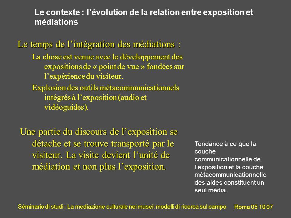 Séminario di studi : La mediazione culturale nei musei: modelli di ricerca sul campo Roma 05 10 07 Lusage des Ipods dans lexposition Trésors du quotidien Environ 1/3 des visiteurs prennent lIpod.