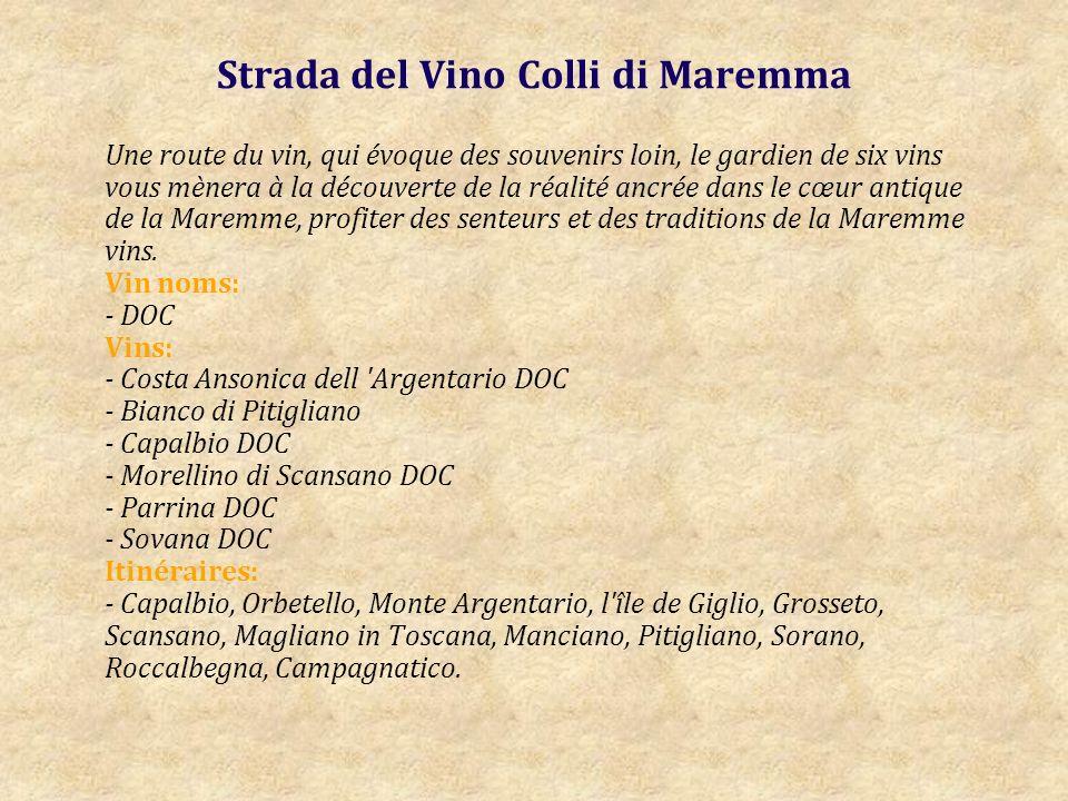 Strada del Vino e dell Olio Lucca e Montecarlo Est une autre route touristique, visant à exploiter les vins et la «huile DOP du territoire de Lucca.