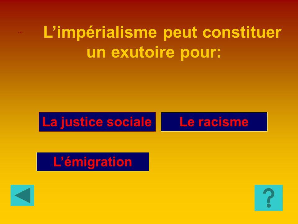Nationalisme Sécessionnisme Constitutionnalisme Limpérialisme représente une forme exaspérée de: HISTOIRE 5