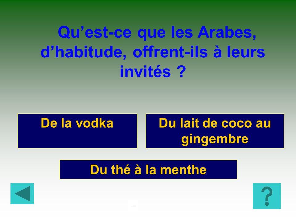 CURIO SITéS 4 Lamour pour le ski Lavarice Leur hospitalité Les Arabes sont traditionnellement célèbres pour :