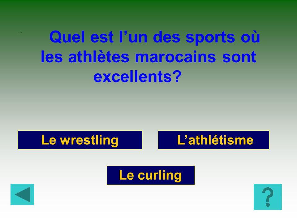 La lutte avec frappe Le ski nautique Le rugby Quel est le sport le plus répandu au Sénégal.