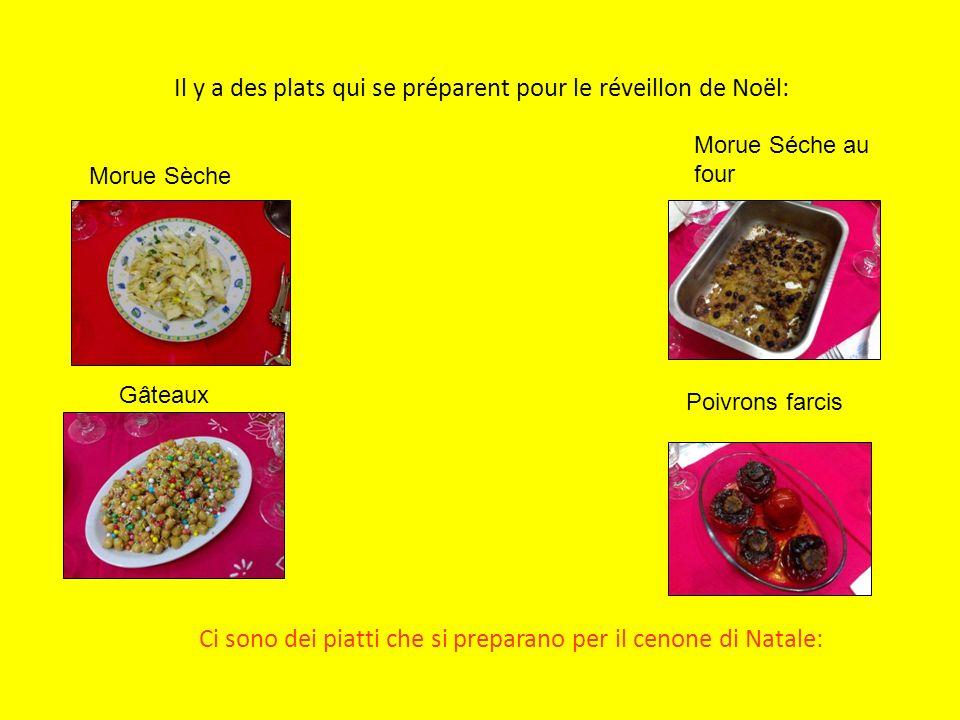 Il y a des plats qui se préparent pour le réveillon de Noël: Ci sono dei piatti che si preparano per il cenone di Natale: Morue Séche au four Gâteaux Morue Sèche Poivrons farcis