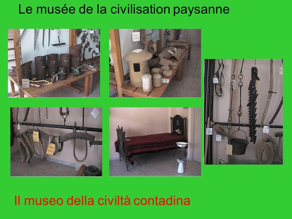 Le musée de la civilisation paysanne Il museo della civiltà contadina