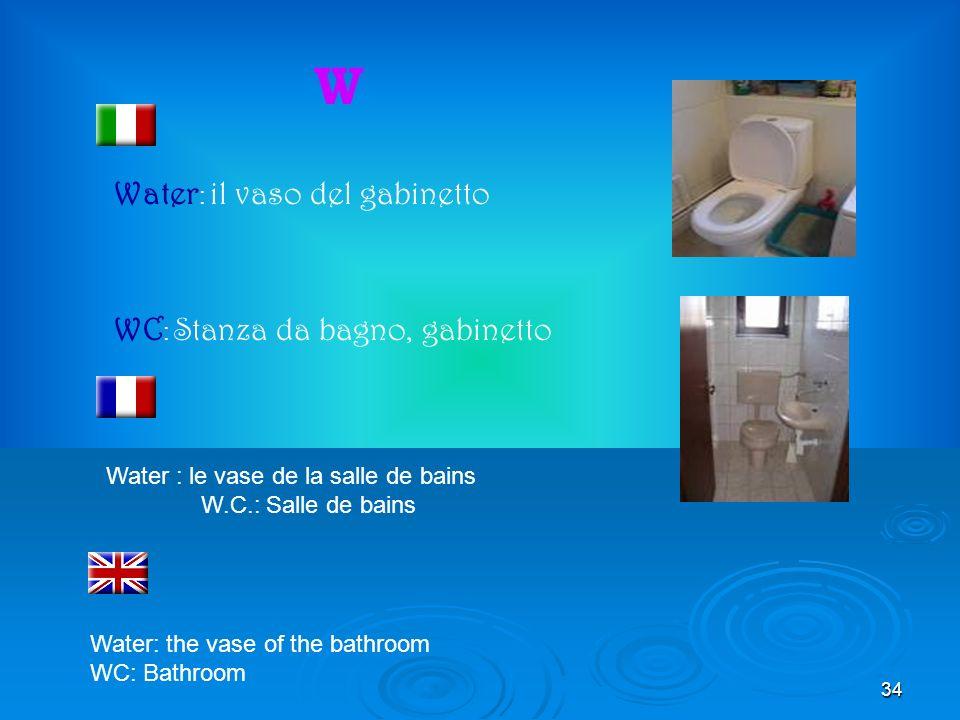 34 W Water : il vaso del gabinetto WC : Stanza da bagno, gabinetto Water : le vase de la salle de bains W.C.: Salle de bains Water: the vase of the ba