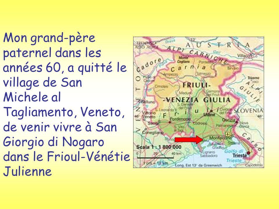 Mon grand-père paternel dans les années 60, a quitté le village de San Michele al Tagliamento, Veneto, de venir vivre à San Giorgio di Nogaro dans le