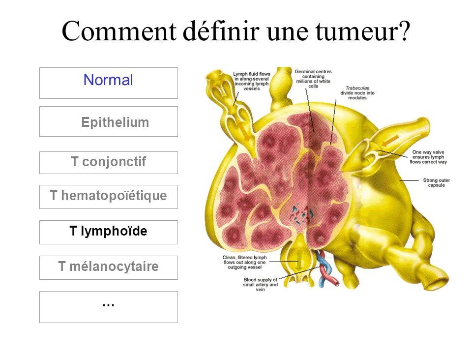 Comment définir une tumeur? Normal Epithelium T conjonctif T hematopoïétique T lymphoïde T mélanocytaire …
