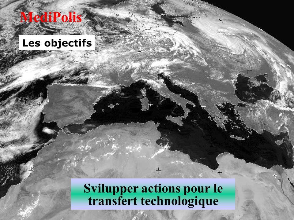 Svilupper actions pour le transfert technologique MediPolis Les objectifs