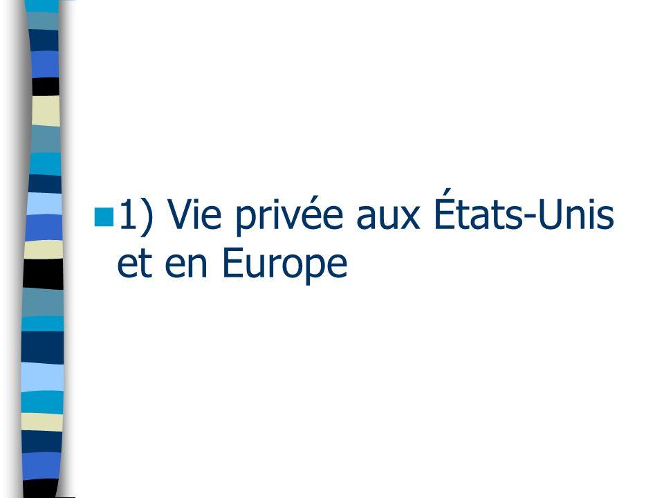 1) Vie privée aux États-Unis et en Europe