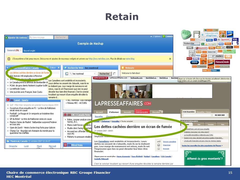 15Chaire de commerce électronique RBC Groupe Financier HEC Montréal Retain