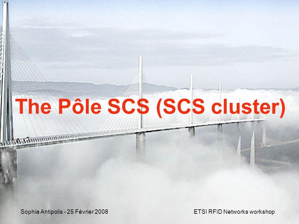Sophia Antipolis - 25 Février 2008 ETSI RFID Networks workshop PARTNERS Collaboration between clusters